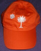UNISEX🐾ORANGE White CLEMSON TIGERS COLLEGE🏈SC PAW PALM Hat Adjustable Baseball