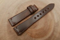 19mm/16mm Brown Genuine Shell Cordovan Leather Watch Strap Band Handmade