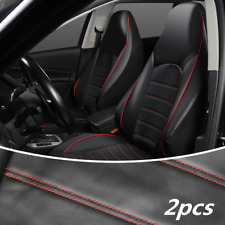 Front 2 Bucket Protector Universal Car Interior Seat Covers Black Leather