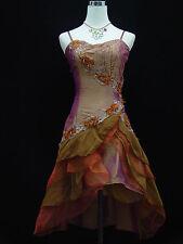 Cherlone Gold Damenkleider Cocktailkleid Party Ballkleid Brautjungfer Kleid 44