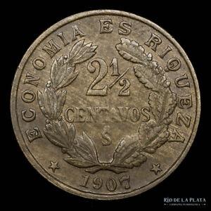 .: Chile 2 1/2 Centavos 1907 UNC :.