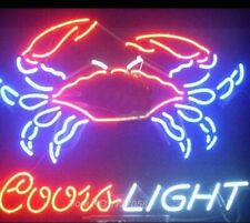"New Coors Light Crab Seafood Beer Bar Neon Light Sign 24""x20"""