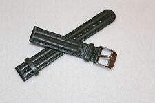 Eddie Bauer Genuine Leather Wristwatch Bands Strap Green 14mm Stitched New