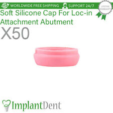 50 Soft Silicone Caps Insert For Loc-In Attachment Abutment Dental Implant