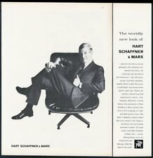 1960 Charles Eames Lounge Chair photo Hart Schaffner & Marx men's suit print ad