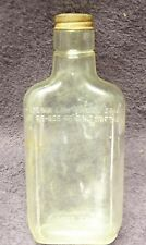 Vintage Ball Liquor or Whiskey Half-Pint Glass Bottle with Steel Cap