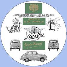 AUSTIN a40 SERIE gs4, gd3, gd5, gv4, gp4, gqu4 MANUALE OFFICINA 1952-1954