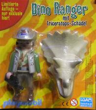 Playmobil * Dino Ranger mit Triceratops-Schädel * Neu * Limitierte Figur