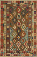 "Hand woven Carpet 6'4"" x 9'10"" Traditional Vintage Wool Kilim...DISCOUNTED!"