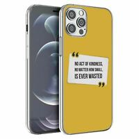 For Apple iPhone 12 Pro Max Silicone Case Peace Yellow Quote - S1781