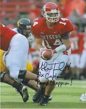 NCAA NFL Football Mike Teel Rutgers Seahawks autographed signed 8x10 photo