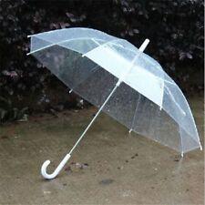 Umbrella Transparent Clear Rain Parasol Favor Wedding Party Dome Plastic Handle