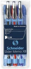 3 Schneider Kugelschreiber Slider Memo farbsortiert dokumentenecht Kuli