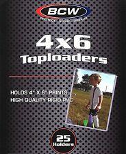 25 BCW 4X6 Rigid Topload Holder Toploader Photo Postcard Protector