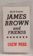 JAMES BROWN AND FRIENDS - ORIGINAL CONCERT TOUR LAMINATE BACKSTAGE PASS