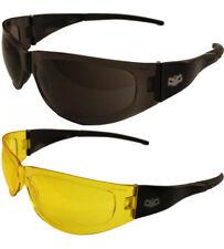Motorcycle Wrap Sunglasses Petite Fit Shatterproof Lens Biker glasses twin pack