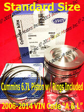 Dodge CUMMINS 6.7 6.7L PISTON STANDARD w/Rings 2006-2014 MAHLE