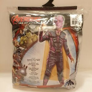 Rubies Marvel Avengers Age Of Ultron Vision Fancy Dress Costume Age 8-10 New