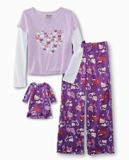 Christmas Size 4/5 Girls Pajamas Matching American Doll Nightgown Dollie and Me