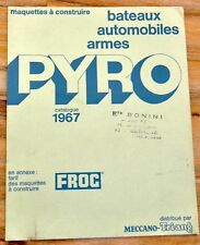 PYRO FROG AMT MECCANO 1967 CATALOGUE KITS AUTOS AVIONS BATEAUX ...