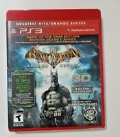 Batman Arkham Asylum Game of the Year Edition (PlayStation 3, 2010) PS3 Complete