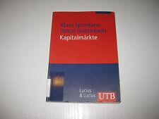 Kapitalmärkte von Klaus Spremann, Pascal Gantenbein  , 1. Aufl. 2005