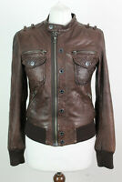 """K-YEN Brown Leather Jacket Chest size 34"""""""