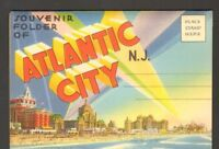 Undated Unused Postcard Souvenir Folder of Atlantic City New Jersey NJ Greetings