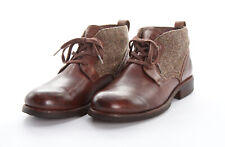 UGG AUSTRALIA Chukka Boots 10.5 M in Grizzly Brown Leather BROMPTON TWEED