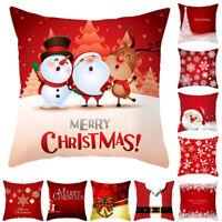 "18"" Christmas Pillowcase Square Cushion Cover Throw Pillow Case Sofa Home Decor"