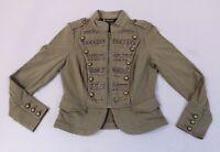 International Concepts Women's Zipfront Military Jacket SG8 Army Green Medium