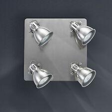 Wofi Lámpara de techo Spot 4 luces Gent Gris perla 9133.04.77.0000