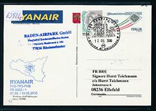 63926) Irland Ryanair FF Trapani Italien - Karlsruhe 5/2010, card
