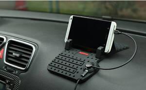 J&Ke Remax Magnetic Lightning Micro Car USB Charger Car Dashboard Mount Holder