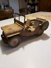 Antique WW II TIN Jeep  Military , Willys, NEAR MINT, ANTIQUE CONDITION