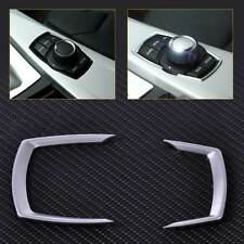 2x Silver Inner Multimedia Button Frame Cover Trim fit BMW 1/2/3/4 Series 13-16