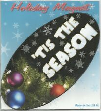 "Advanced Graphics Inc. 'Tis The Season 3.5"" x 7"" Oval Auto Magnet **NEW**"