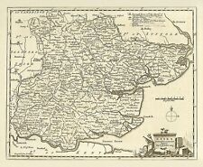 Old Essex 1786 - repro map of Thomas Kitchin - 50x41cm - 19x16ins