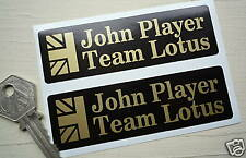 "JOHN PLAYER TEAM LOTUS JPS Union Jack Oblong STICKERS 4"" Pair Race Racing Car"