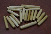 """25 PCS WHITE BUFFALO BONE HAIR PIPE CHOKER BEADS PENDANTS 4/"""" #BD-10"""