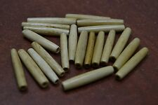 "50 PCS COFEE BROWN BONE HAIR PIPE CHOKER BEADS PENDANTS 1 1/2"" #T-2303"