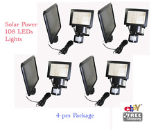 4-Pack 108 SMD LED Outdoor Solar Powered Motion Sensor Security Light - Retail