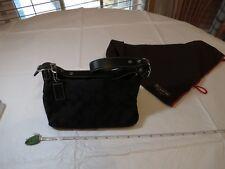 Authentic Coach HANDBAG bag SIGNATURE DEMI POUCH black purse shoulder B06W-6044