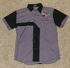 Red-Ox shirt XL Men Old School Look Wear Bowling Lounge Golf Casual Plaid Funky