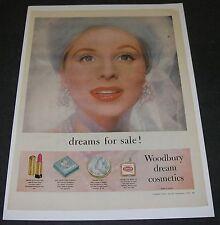 Print Ad 1957 COSMETICS Woodbury dreams for sale Pretty Lady