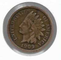 USA Rare Very Old Antique 1909 US Indian Head Penny Cent Collection Coin Lot i34