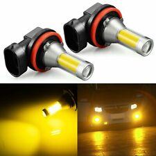 JDM ASTAR 2x 1500LM Gloden Yellow H11 H8 COB LED Bulbs Driving Fog Light Lamps