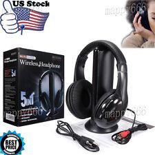 5in1 Inalámbrico Auriculares Cascos Audio sans fil HI-FI RADIO FM TV MP3 MP4