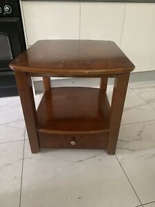 Side table Solid wood table with Drawer