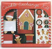 NEW MERI MERI CHRISTMAS COOKIE EXCHANGE PARTY KIT RECIPE CARDS TAGS TREAT BAGS
